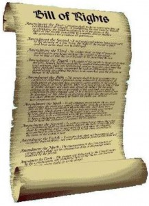 bill of rights scroll